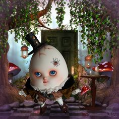 Humpty-Dumpty --> like how it has been digitally created rather than sketched Polymer Clay Sculptures, Sculpture Clay, Polymer Clay Dragon, Humpty Dumpty, Halloween Ornaments, Egg Art, Fairy Art, Chalk Art, Stop Motion