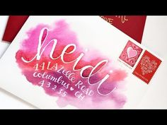 Watercolor Envelopes ... lots of useful info ... paper to use ... how to use the envelope board ... how to use resist masking ...YouTube
