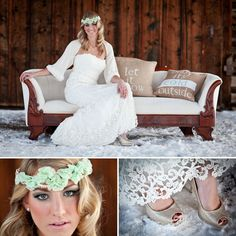 Winter wedding bridal jacket.
