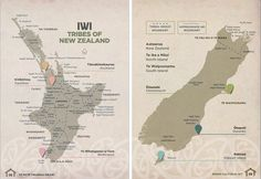 From NZTE& Māori Cultural Kit for people wanting to do business with Māori organisations, a map showing tribal boundaries of New Zealand& Māori iwi.