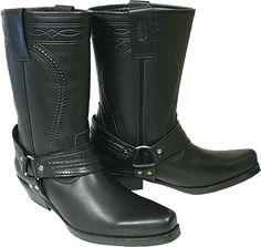 Westernové boty vysoké černé, prošívané | Jezdecké potřeby | Kalenda koně