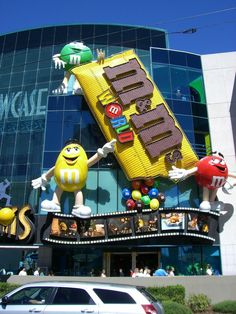 M & M  World in Las Vegas -- my favorite part of our Vegas trip