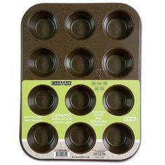 CasaWare Mini Muffin Pan 12 Cup Ceramic Coated Non-Stick (Brown Granite) - LaPrima Shops ®