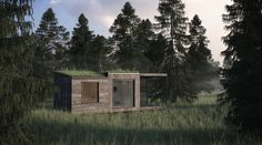 The Mini House by Jonas Wagell is a Modern Prefab That Pops Up in Two Days! Mini House by Jonas Wagell – Inhabitat - Green Design, Innovation, Architecture, Green Building Sauna House, House 2, Farm House, Safari, Brewery Design, Sauna Design, Prefab Cabins, Eco Architecture, Cabins In The Woods