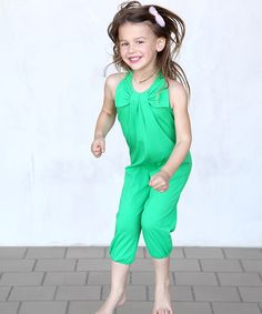 This Green Bow Halter Playsuit - Toddler & Girls by Buckleberry Kids is perfect! #zulilyfinds