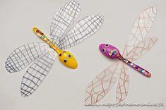 Vážky z plastových lyžičiek | Neposedné nožnice