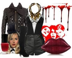 BOW TIE ROCKY HORROR COLUMBIA SEQUIN PLAYSUIT SOCKS FREE HAT WIG