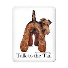 Airedale Talk to the Tail iPad Case