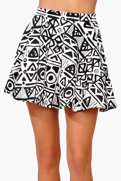 #Necessary Clothing       #Skirt                    #Necessary #Skater #Skirt #Ivory/Black              Necessary Skater Skirt - Ivory/Black                                          http://www.seapai.com/product.aspx?PID=40867