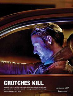 #AlbertaOfficeofTrafficSafety Launched a Camapaign 'Crotches Kill, Guys'