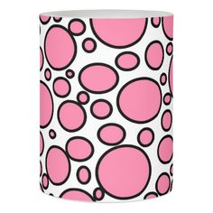 Pink and Black Polka Dots Flameless Candle
