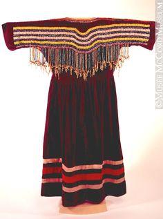 Blackfoot or Assiniboine dress, McCord  ac