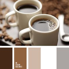 Calm, balanced palette in which nothing is annoying and does not distract from the main. Soft pastel colors create an atmosphere of calm and peacefulness. Dark colors create a contrast with bright colors. This color surrounded by nice to sit, have a cup of coffee and calm focus. A suitable range of colors for the kitchen or the living room.
