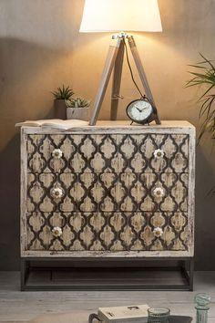 BHT ca.: 75/72/36 cm Retro Chic, Taj Mahal, Modern, Pattern, Small Chest Of Drawers, Wood Carving, Living Room, Deko, Homes