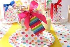 Rainbow Party Birthday Party Ideas | Photo 9 of 20 | Catch My Party