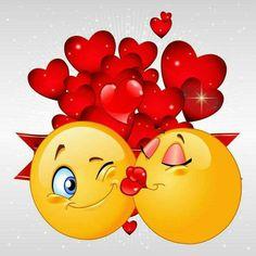 Good Morning Smiley, Good Morning Kisses, Good Morning Quotes For Him, Good Morning Love, Good Morning Greetings, Morning Sayings, Love Smiley, Emoji Love, Funny Emoticons