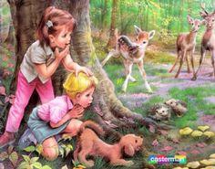 Martine dans la forêt (in the forest). By illustrator Marcel Marlier #belgium