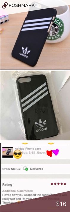Adidas case Cute. Lack adidas hard case for iPhone  7.....brand new.   3 available Adidas Accessories Laptop Cases