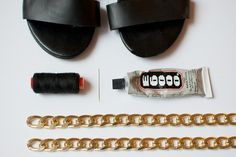DIY Chain Trimmed Flats