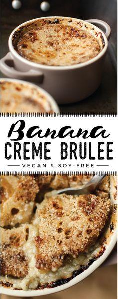Banana Creme Brûlée | Vegan