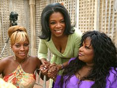 The Legends Luncheon - Oprah.com Mary J. Blige, Oprah and Chaka Khan.