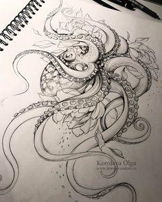 27 trendy Ideas for flowers tattoo color thigh piece – Octopus Tattoo Tattoos Mandala, Forearm Tattoos, Flower Tattoos, Body Art Tattoos, Tattoo Thigh, Ocean Sleeve Tattoos, Octopus Tattoo Sleeve, Tatoos, Xoil Tattoos