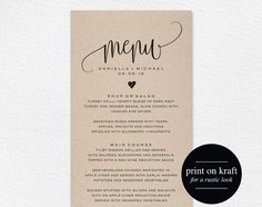 dinner card template printable rehearsal dinner invitation card template kraft dinner party menu card and place card templates dinner series dinner party
