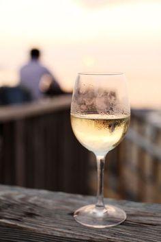 ice cold white wine