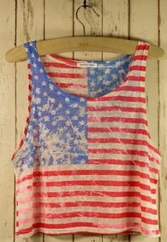 Retro American Flag Dyed Top - Chic+ - Retro, Indie and Unique Fashion...Fourth of July, perhaps;)