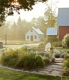 Patio Designs - Ideas for Porch and Patio Decorating - Country Living--Like this as another possibility in front of the sunroom