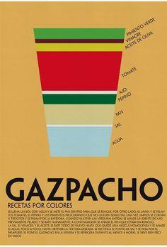 Cómo elaborar un gazpacho en forma de infografía - http://www.lauravalero.com/?p=108