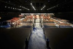 The Tommy Hillfiger runway set. He brought the park inside.