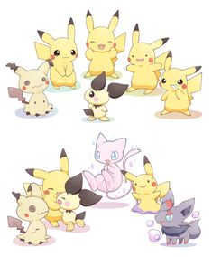 Imitation Pokemon as Pikachu Pikachu Pikachu, Pokemon Eevee, Pokemon Fan Art, Pokemon Luna, Pokemon Ships, Pokemon Ditto, Pokemon Stuff, Cute Pokemon Pictures, Pokemon Images