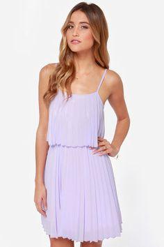 Grad dress -- Pleats on Earth Lavender Dress at LuLus.com