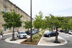 nice on street parking. Landscape And Urbanism, Park Landscape, Landscape Architecture Design, Urban Landscape, Arches Park, Eco City, Public Space Design, Garage Lighting, Urban Park