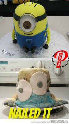 hahahaha so decked - Minion Cake Fail…