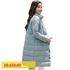 2017 New Solid Winter Jacket Women Stand collar Coat Cotton Padded Parkas Long Warm Sweat Girls Cold Outwear Female Down Jacket