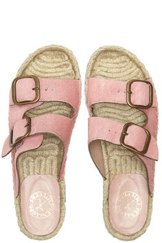 Pony Pool Sandals in pink.