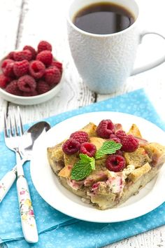 Overnight Raspberry & Cream Cheese French Toast - so good it should be dessert!