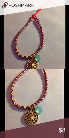 Boho Bracelet Nautical Charm Gemstone This is a woven multicolor boho festival bracelet with a gold nautical star, teal faceted agate gemstone and finished with a 14k Gold Filled clasp. This bracelet is adjustable. Suncoast Studio Clearwater Jewelry Bracelets