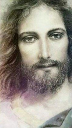 I don't know if this is what Christ looks like but I do know that we'll see Him soon Jesus Son Of God, Mary And Jesus, Pictures Of Jesus Christ, Religious Pictures, Religious Paintings, Religious Art, Jesus Drawings, Jesus Painting, Jesus Face