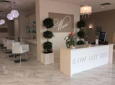 Waves Blow Dry Bar - Decoration For Home Nail Salon Design, Nail Salon Decor, Hair Salon Interior, Salon Interior Design, Home Salon, Beauty Bar Salon, Beauty Salon Design, Makeup Salon, Salon And Spa