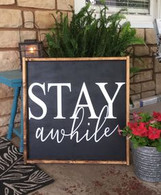 Backyard Signs, Patio Signs, Front Porch Signs, Outdoor Signs, Outdoor Walls, Wooden Diy, Handmade Wooden, Wooden Signs, Diy Wood