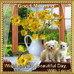 Everyday Cards/Good Morning section. Wish anyone a beautiful day with love. Permalink : http://www.123greetings.com/general/good_morning/good_morning_to_you_gm_g1.html