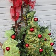 Tomato cage Christmas Tree's I posted these a couple of weeks ago and people have been going crazy over them, lol. I finally got a chance to set the...