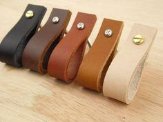 Echtleder-Schublade zieht / Leder Drawer Pulls / dickes Leder Schublade zieht / ANPASSBARE Leder zieht / Upgrade-moderne Möbel