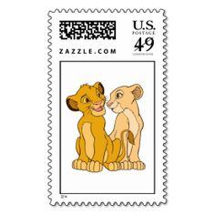 Simba and Nala Disney Stamp. This great stamp design is available for customization or ready to buy as is. Of course, it can be sent through standard U. Just click the image to make your own! Lion King Timon, Simba And Nala, Tumblr Stickers, Phone Stickers, Disney Scrapbook Pages, Scrapbook Stickers, Bullet Journal Mood Tracker Ideas, Disney Quilt, Young Simba