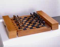 """Eye for an eye"" chess set"