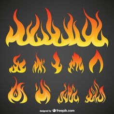 Flames Pack Free Vector