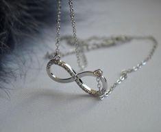 Infinity Necklace Infinity Necklace, Charmed, Jewellery, Bracelets, Earrings, Silver, Ear Rings, Jewels, Stud Earrings